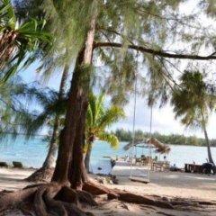 Отель Blue Heaven Island Французская Полинезия, Бора-Бора - отзывы, цены и фото номеров - забронировать отель Blue Heaven Island онлайн пляж фото 2