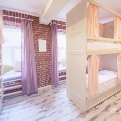 Волхонка хостел Кровать в общем номере с двухъярусными кроватями фото 7