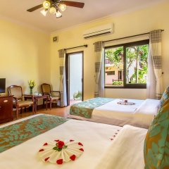 Отель Agribank Hoi An Beach Resort 3* Улучшенный номер с различными типами кроватей фото 4