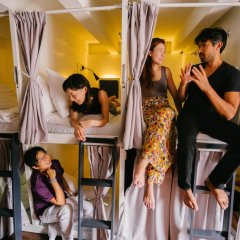 Matchbox The Concept Hostel Кровать в общем номере с двухъярусной кроватью фото 2