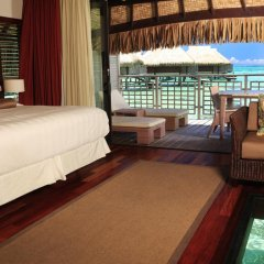 Отель Hilton Moorea Lagoon Resort and Spa 5* Бунгало с различными типами кроватей фото 9