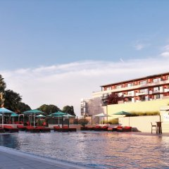 Отель Hilton Evian-les-Bains бассейн фото 2