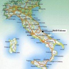 Отель B&B Falcone Ортона приотельная территория