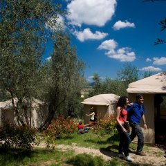 Отель Camping Michelangelo Кровать в общем номере фото 2