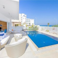Отель Oceanview Villa 100 Кипр, Протарас - отзывы, цены и фото номеров - забронировать отель Oceanview Villa 100 онлайн бассейн
