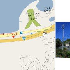 Отель Cottage Seaside Центр Окинавы приотельная территория