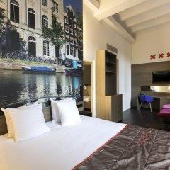 Отель The Manor Amsterdam 4* Улучшенный номер с различными типами кроватей фото 2