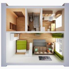 Апартаменты Альфа Апартаменты Красный Путь Студия с различными типами кроватей фото 30