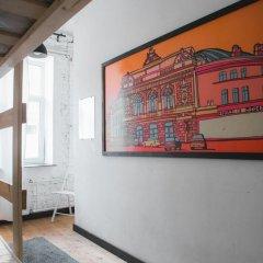 АРТ хостел Культура Кровать в общем номере с двухъярусными кроватями