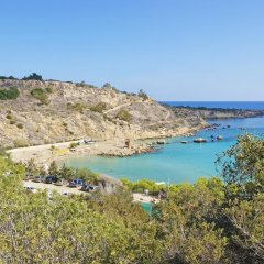 Отель Bay View Apartment Кипр, Протарас - отзывы, цены и фото номеров - забронировать отель Bay View Apartment онлайн пляж фото 2