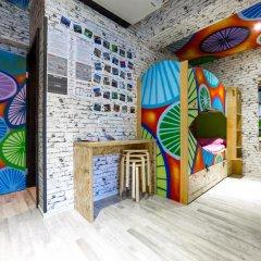 Chillout Hostel Zagreb Кровать в общем номере с двухъярусной кроватью фото 30