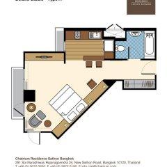 Отель Chatrium Residence Sathon Bangkok 4* Студия Делюкс фото 14