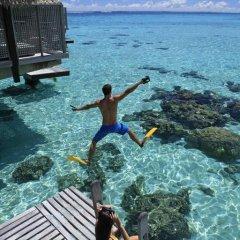 Отель Hilton Moorea Lagoon Resort and Spa 5* Бунгало Премиум с различными типами кроватей фото 7