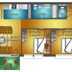 Апартаменты Sun Resort Apartments Улучшенные апартаменты с 2 отдельными кроватями фото 2