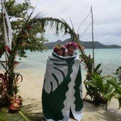 Отель Pension Hibiscus Tahaa пляж