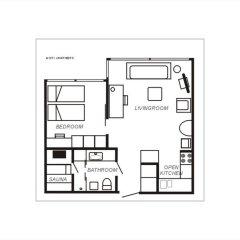Отель City Apartments - Helsinki Финляндия, Хельсинки - отзывы, цены и фото номеров - забронировать отель City Apartments - Helsinki онлайн комната для гостей фото 4