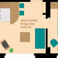 Отель Golden Prague Residence 4* Улучшенные апартаменты с различными типами кроватей фото 28