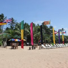 Отель Warahena Beach Hotel Шри-Ланка, Бентота - отзывы, цены и фото номеров - забронировать отель Warahena Beach Hotel онлайн пляж