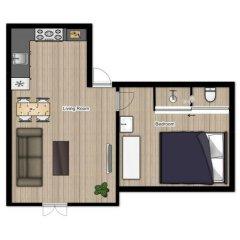 Cityden Museum Square Hotel Apartments 3* Улучшенные апартаменты с различными типами кроватей фото 13