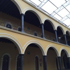 Отель Hacienda de Los Santos парковка