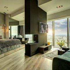 Отель Apartamenty Sky Tower Улучшенные апартаменты с различными типами кроватей фото 13