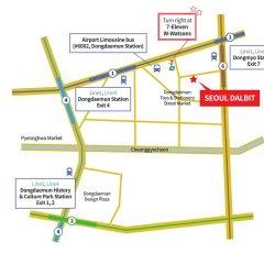 Отель Seoul Dalbit Dongdaemun Guesthouse городской автобус