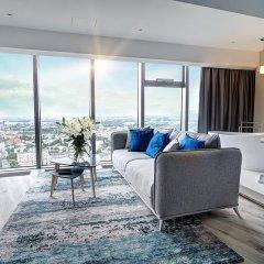 Отель Apartamenty Sky Tower Улучшенные апартаменты с различными типами кроватей фото 14