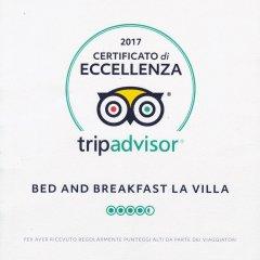 Отель Bed and Breakfast La Villa Пресичче парковка
