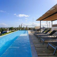 Отель Papaya 15 Apartments Мексика, Плая-дель-Кармен - отзывы, цены и фото номеров - забронировать отель Papaya 15 Apartments онлайн бассейн фото 2