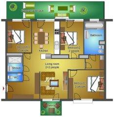 Апартаменты Sun Resort Apartments Улучшенные апартаменты с различными типами кроватей фото 6