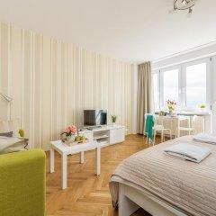 Апартаменты Rondo ONZ P&O Apartments Студия Делюкс с различными типами кроватей