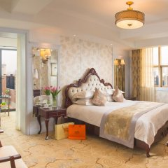 Отель Hangzhou Hua Chen International 4* Улучшенный номер с различными типами кроватей фото 15