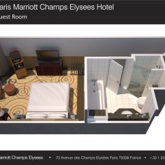 Paris Marriott Champs Elysees Hotel 5* Номер Делюкс фото 4