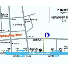 Отель K-Guesthouse Myeongdong 2 Южная Корея, Сеул - отзывы, цены и фото номеров - забронировать отель K-Guesthouse Myeongdong 2 онлайн городской автобус