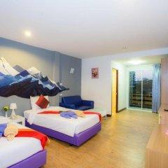 Отель Sea Breeze Jomtien Residence 3* Улучшенный номер с различными типами кроватей фото 4