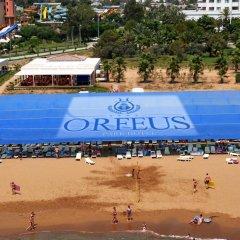 Orfeus Park Hotel Турция, Сиде - 1 отзыв об отеле, цены и фото номеров - забронировать отель Orfeus Park Hotel онлайн пляж фото 2