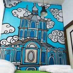 АРТ хостел Культура Номер Эконом с разными типами кроватей (общая ванная комната) фото 6
