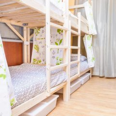 Гостиница Hostels Rus Golovinskiy Кровать в общем номере с двухъярусной кроватью фото 13