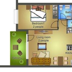 Апартаменты Sun Resort Apartments Улучшенные апартаменты с различными типами кроватей фото 5