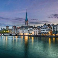 Отель Zürich Niederdorf - Grossmünster Швейцария, Цюрих - отзывы, цены и фото номеров - забронировать отель Zürich Niederdorf - Grossmünster онлайн приотельная территория
