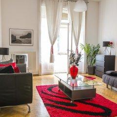 Апартаменты Black & White Apartment Будапешт комната для гостей фото 3