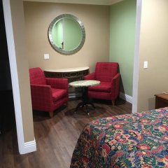 Отель American Inn & Suites LAX Airport 2* Стандартный номер с различными типами кроватей фото 9