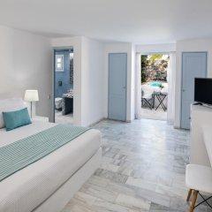 Отель Santorini Kastelli Resort 5* Улучшенный номер с различными типами кроватей фото 13