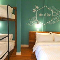 Хостел Siri Poshtel Bangkok Стандартный семейный номер с двуспальной кроватью