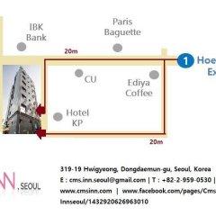 Отель CMS Inn Seoul Guesthouse городской автобус