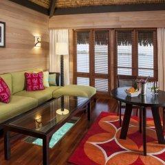 Отель The St Regis Bora Bora Resort 5* Улучшенная вилла Overwater с различными типами кроватей фото 3