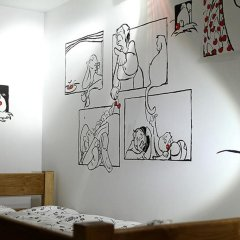The Cherry Hostel Кровать в общем номере с двухъярусной кроватью фото 7