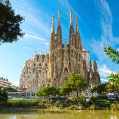 Отель Meridian Glories Барселона приотельная территория