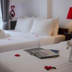 Hanoi 3B Hotel 2* Стандартный семейный номер с двуспальной кроватью фото 3