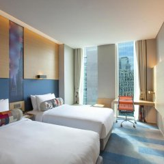 Отель Aloft Seoul Gangnam 4* Стандартный номер с различными типами кроватей фото 4